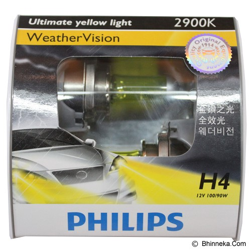 PHILIPS Weather Vision 2900K - H4 [12754WV] - Lampu Mobil
